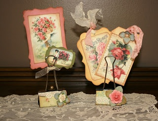 Shabby Beautiful Scrapbooking: Shabby Chic Altered Binder clips