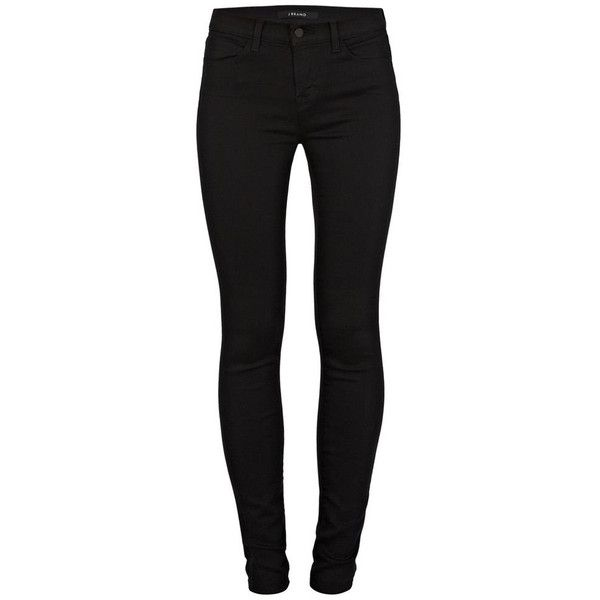 J Brand 620 Skinny Jeans (2.125 HRK) ❤ liked on Polyvore featuring jeans, pants, black, calça, mid-rise jeans, black super skinny jeans, skinny fit jeans, mid rise skinny jeans and denim skinny jeans