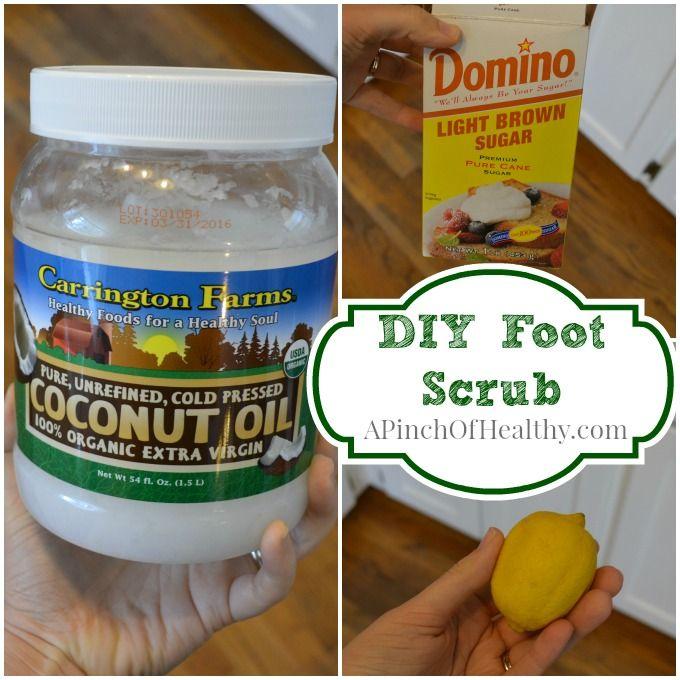 DIY Coconut Oil Foot Scrub