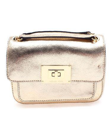 Another great find on #zulily! Pale Gold Sloan Leather Shoulder Bag by MICHAEL Michael Kors #zulilyfinds