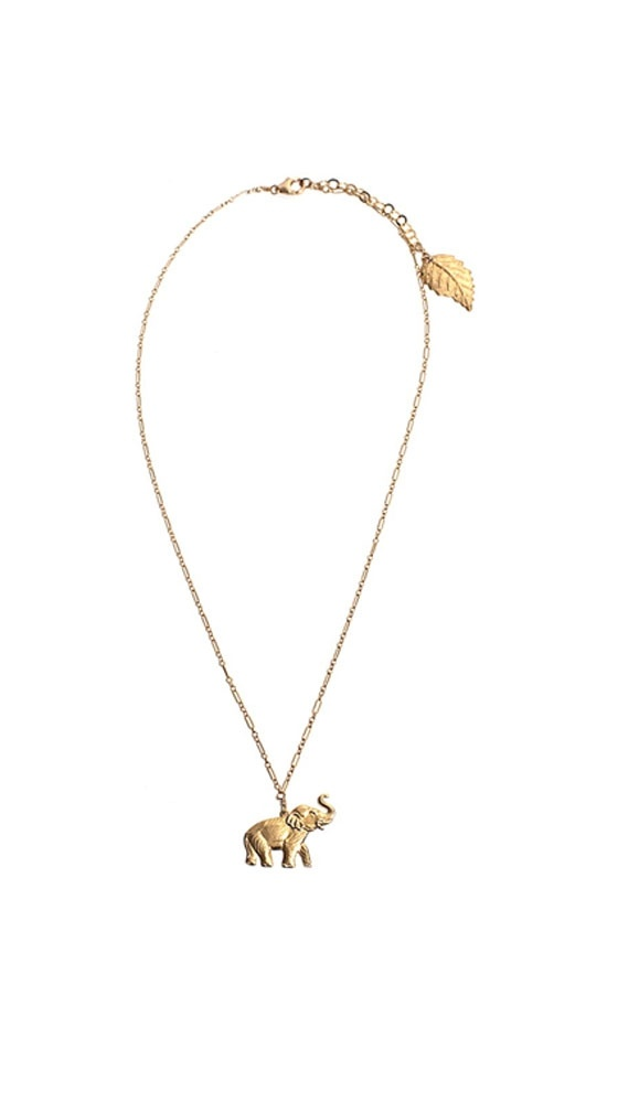 Regina - 14k Gold-Filled by Robyn RhohdesElephant Necklace