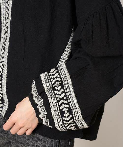 Ciaopanic(チャオパニック)の「カディー風刺繍ストライプブラウス(シャツ/ブラウス)」 詳細画像