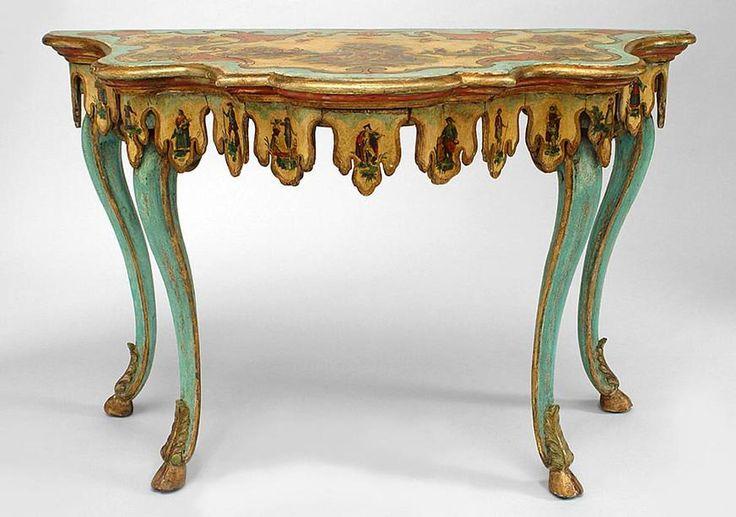 Italian Venetian table console table painted