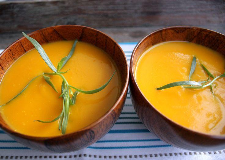 Oppskrift Gulrotsuppe Hjemmelaget Vegetar Vegan Suppe Gulrot Forrett