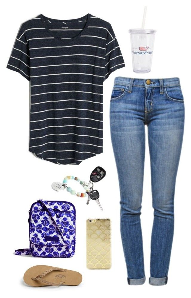"""Untitled #390"" by classygrace ❤ liked on Polyvore featuring Madewell, Current/Elliott, Vineyard Vines, Vera Bradley, Sonix and Rainbow"