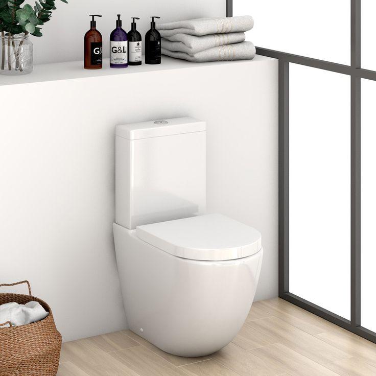Mode Harrison close coupled toilet inc soft close seat | VictoriaPlum.com