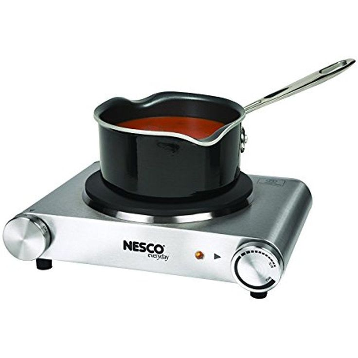 Nesco Single Electric Stove Burner Stainless Steel 1500 Watt Hot Plate Camping