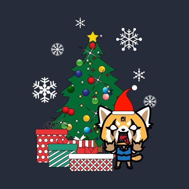 Aggretsuko Christmas.Check Out This Awesome Aggretsuko Around The Christmas Tree