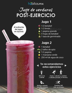 Hábitos Health Coaching | JUGO DE VERDURAS POST-EJERCICIO