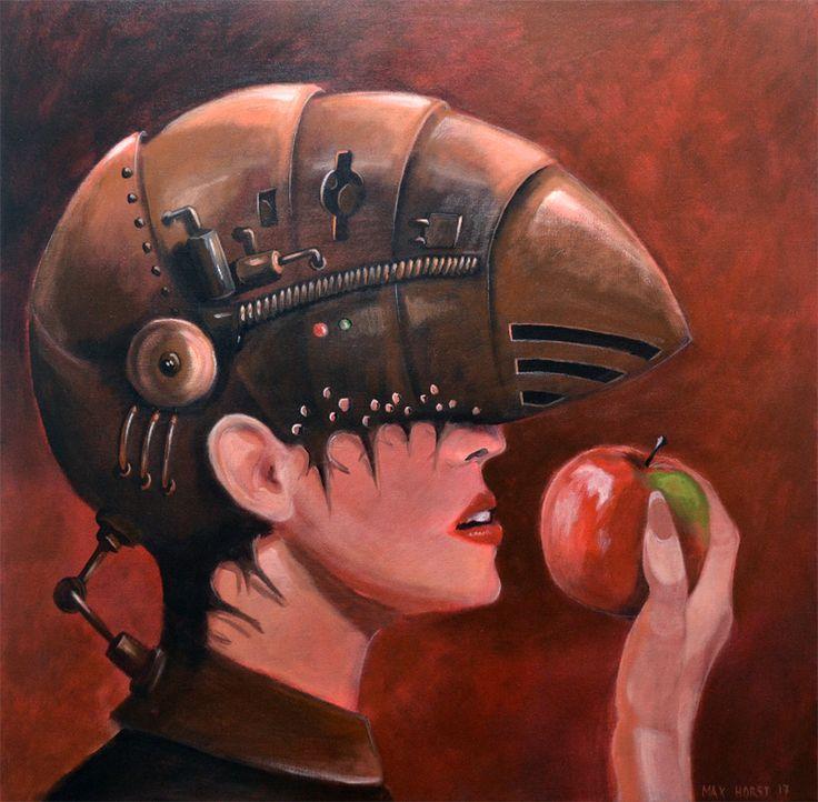 EVA, acrylics on canvas by Max Horst