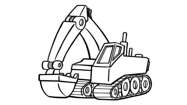 Inspired Picture Of Excavator Coloring Page Entitlementtrap Com Truck Coloring Pages Coloring Pages Inspirational Coloring Pages To Print