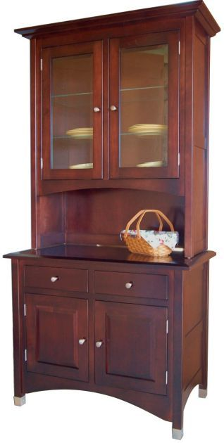 Made In The USA By Amish Artisans, Our Winchester Small China Cabinet Is  Built Exclusively