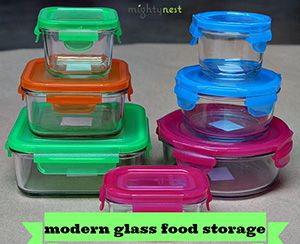 Wean Green glass is tempered, meaning much stronger than typical glass! And the BPA-Free lids are durable and don't fall apart like some other flimsy snap-lid brands. And YES. They can go in the dishwasher, freezer and microwave (sans the lid).