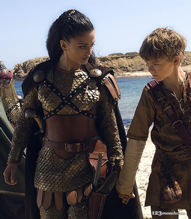 "Aishwarya Rai with Thomas Sangster, ""The Last Legion"", 2007 #armor Now that's realistic armor...."