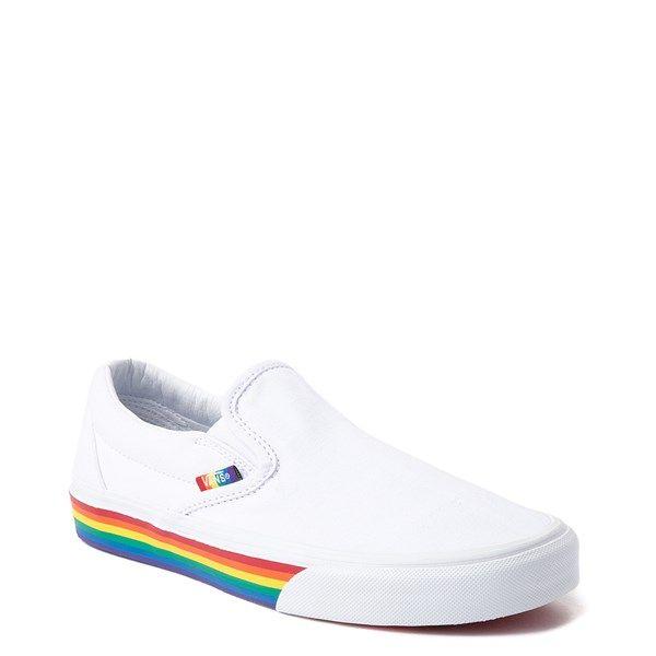 Vans Slip On Rainbow Skate Shoe - White