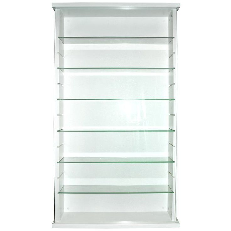 7 Shelves Display Cabinet White Solid Wood Kitchen Dining Room Furniture