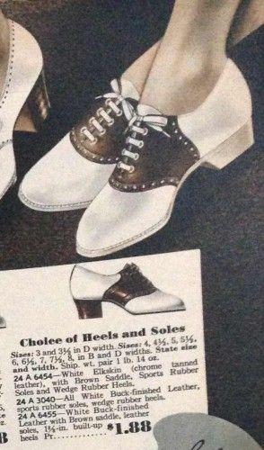 1930 zadel Oxford schoenen