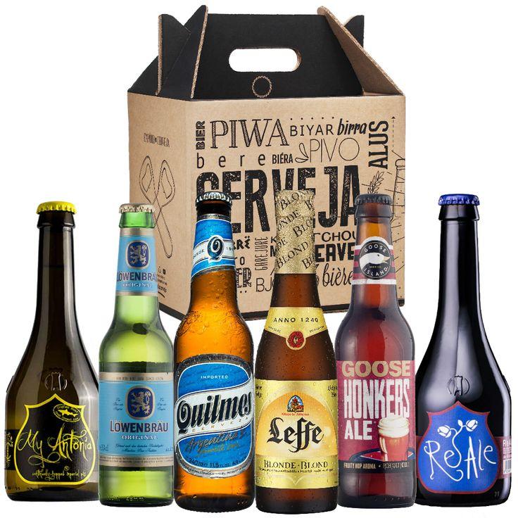 Kit Presente Cervejas Importadas + Gift Box - emporio