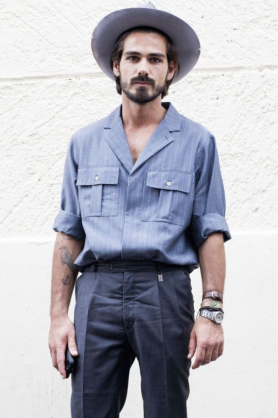 fashion men are the new black : Photo
