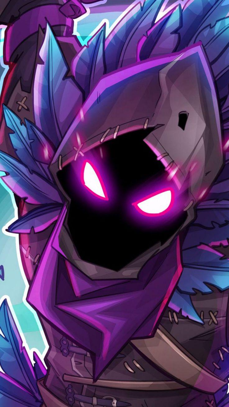Raven In Fortnite Battle Royale Mobile wallpaper, Dark