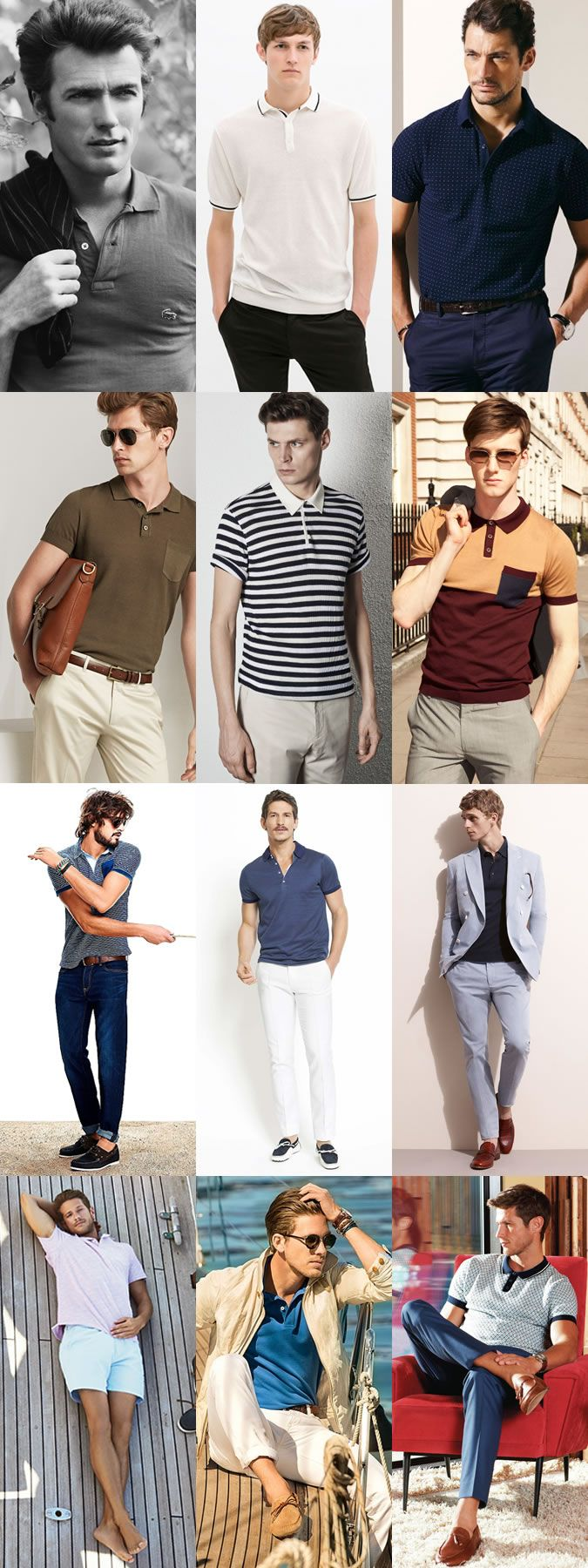 Men's 1950s-inspired Polo Shirts Outfit Inspiration