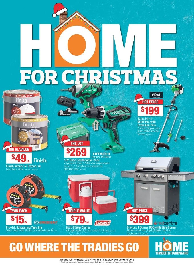 Home Timber & Hardware Catalogue 23 November - 24 December 2016 - http://olcatalogue.com/hh/home-hardware-catalogue.html