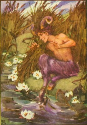 Pan, the Greek god of forests and pastures