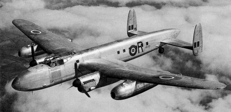 24th July 1947. First flight of Avro 691 Lancastrian equipped with de Havilland Ghost 50 outer engines (used for the Comet 1).