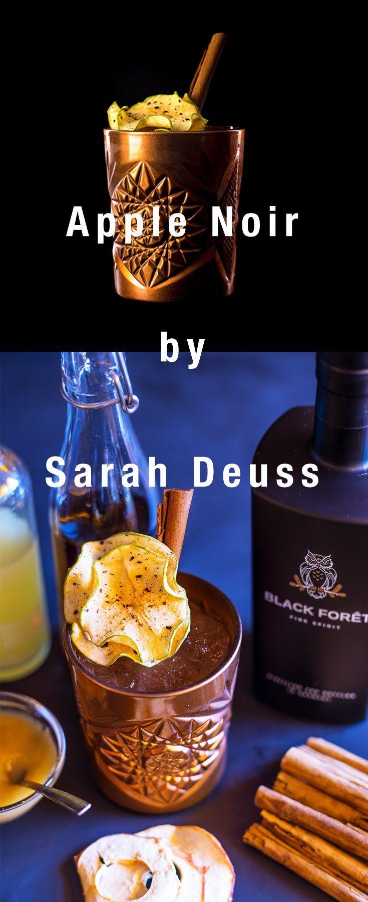 Rezept Zutaten Black Foret 5 Cl Apfelmus 1 Cl Berberitzen Schwarzteesirup 2 Cl Zitronensaft 1 Apfelchips Zimtstange Eiswu Apple Cocktails Ice Bucket