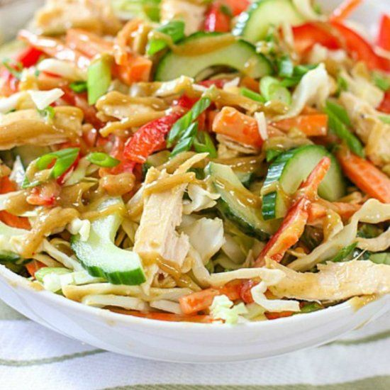 Crunchy Chicken Thai Salad is perfect for a summer dinner!