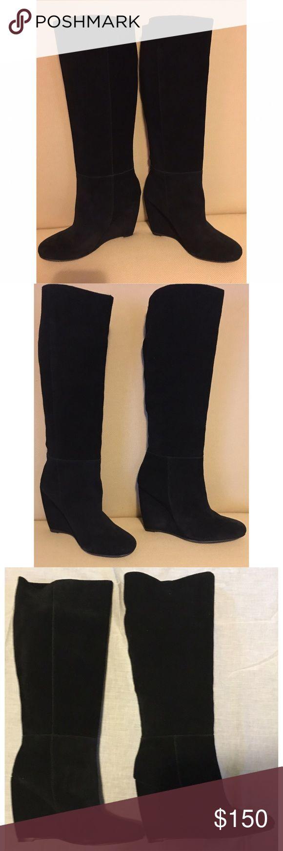 Josie black suede boots. New never worn. Joie black suede boots. Slide on soft suede. Size 36 1/2. Joie Shoes Heeled Boots