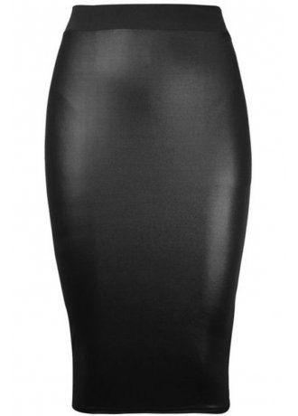 Leatherette Pencil Skirt, £19.99.