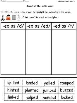 Word Sort: Sounds of -ed Inflectional Endings. Free download: must log in to teachers pay teachers