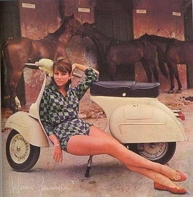 1964 Stefania Sandrelli, Vespa Calendar Girl