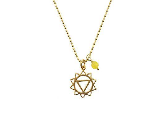 Mooie 14 karaat gold filled Chakra 3 ketting goud. Tijdloze exclusieve talisman vol betekenis die staat voor blijheid, energie en kracht om te bereiken wat je wilt.