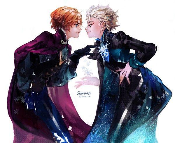 Tags: Anime, Snowflakes, Disney, Black Gloves, Black Handwear, Pixiv Id 1319785, Frozen (Disney) Genderbent
