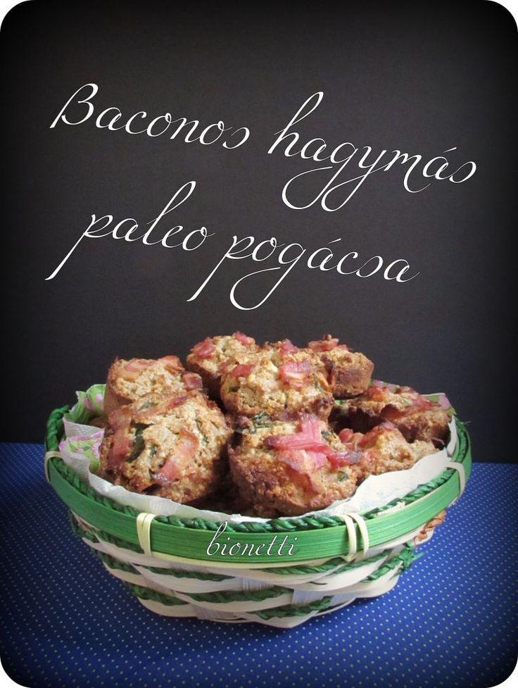 Baconos paleo pogácsa