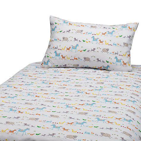 John Lewis Farmyard Cotbed Duvet Cover And Pillow Set