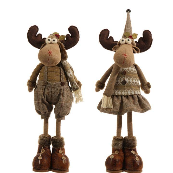 "Moose Couple 23"" Brown RAZ Imports"
