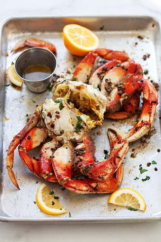 Dungeness Crab With Roasted Dungeness Crab Recipe Rasa Malaysia Crab Recipes Dungeness Crab Recipes Crab Recipes Easy