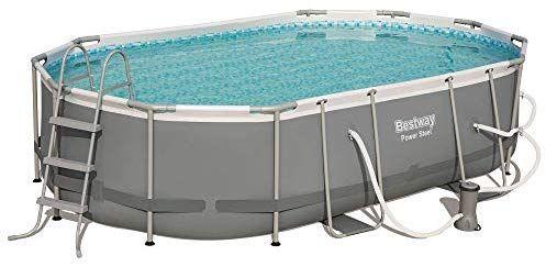 Bestway Power Steel 16 X 10 Foot Metal Above Ground Swimming Pool Set With Pump Swimming Pools Best Above Ground Pool Swimming Pool Designs