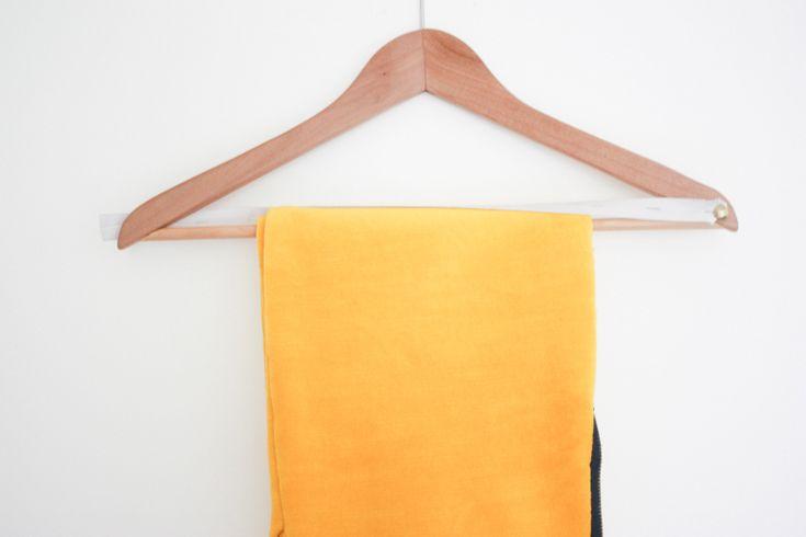 One Little Minute Blog DIY Ikea Wooden Trouser Hanger DIY Non Slip Hangers + DIY Suit Hangers