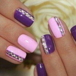 Дизайн ногтей фиолетовый