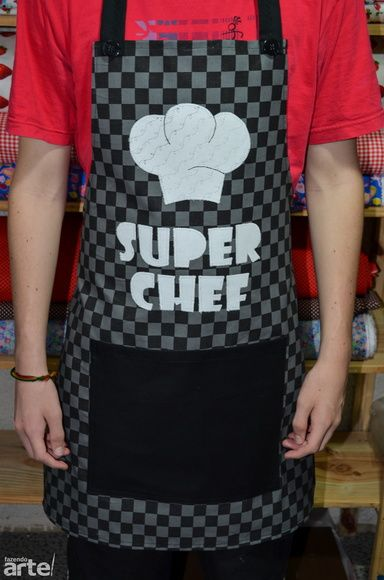 Avental Masculino Super Chef 2 Mais