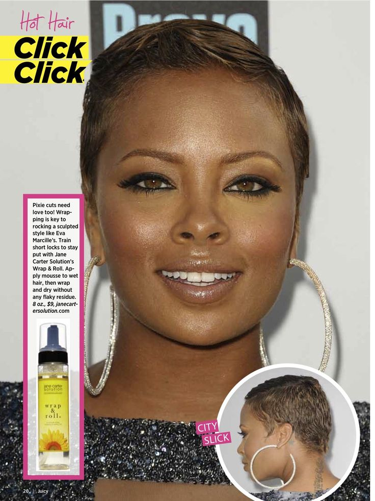 Eva Marcille Pixie Cut Too Night Town Make