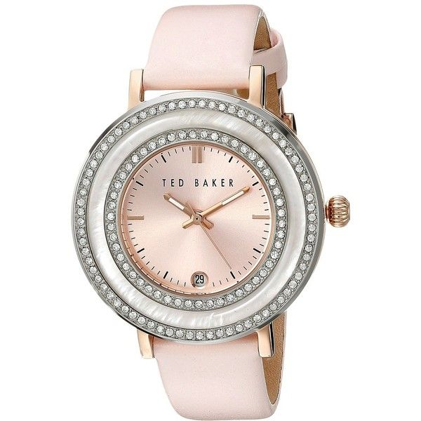 Ted Baker Vintage Glam Watches ($175) ❤ liked on Polyvore featuring jewelry, watches, bracelets, accessories, ted baker watches, vintage wristwatches, bezel watches, analog wrist watch and water resistant watches