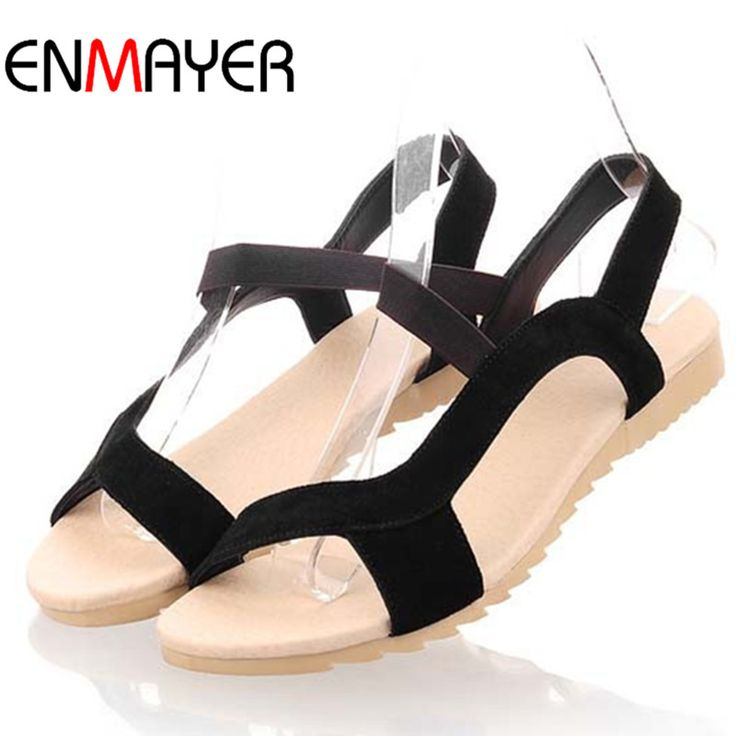 Купить товарENMAYER Мода Квартиры Пятки Женщины Сандалии Из Натуральной Кожи Сандалии Дамы Смешивать Цвета Высокое Качество Оптовая Низкая Цена Причинно Следственной Обувь в категории Сандалиина AliExpress. ENMAYER High Heels 2 Colors White Shoes Woman Lace-up Winter Boots Shoes Mid-calf Boots ShoesRound Toe Platform Shoes Si