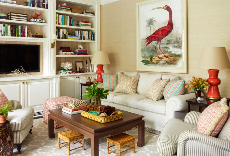 :: Ashley Whittaker Design ::fabulous colors in a pretty family room