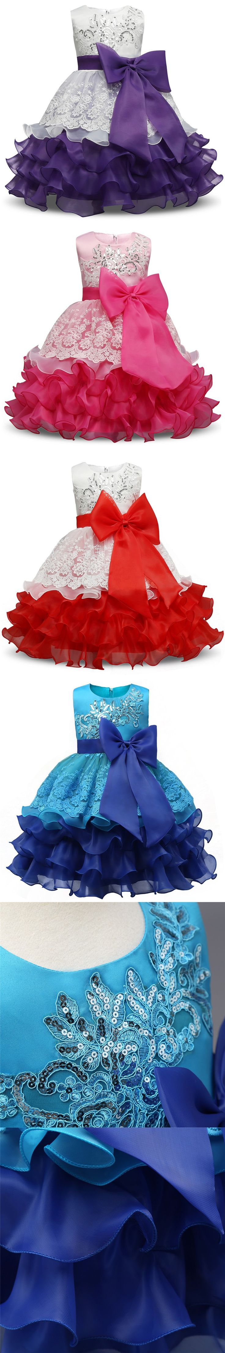 Fancy Girl Dress For Wedding Birthday Kids Events Party Wear Brand Toddler Girl Tutu Dresses Baby Baptism Clothes For Girls 8Yrs $18.73