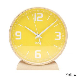 8.5-inch Round Mantel Clock | Overstock.com Shopping - Great Deals on Wolf Designs Clocks